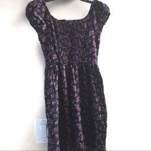 Aeropostale Dresses - Aeropostale midi dress puff sleeves XS